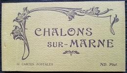 CPA - CHALONS S/MARNE - Vues De La Ville Et édifices - CARNET De 12 Vues - Châlons-sur-Marne