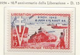 PIA  - FRAN : 1954 : 10° Anniversario Della Liberazione  - (Yv 983) - Francia