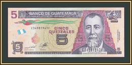 Guatemala 5 Quetzales 2014 P-122 (122Aa) UNC - Guatemala