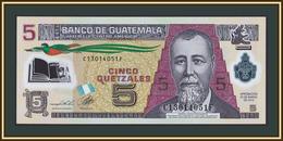 Guatemala 5 Quetzales 2013 P-122 (122d) UNC - Guatemala