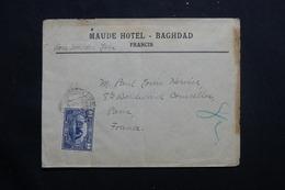 IRAQ - Enveloppe Du Maud Hôtel De Baghdad Pour Paris En 1923, Affranchissement Plaisant - L 55641 - Iraq