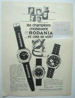 Publicité RODANIA Cyclisme Merckx Maertens Bruyère De Vlaeminck. - Spirou 1976. - Publicités