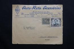 PORTUGAL - Enveloppe Commerciale ( Illustrée Au Dos ) De Lisbonne Pour La France, Affranchissement Plaisant - L 55644 - 1910-... República