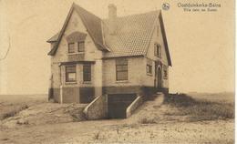 OOSTDUINKERKE : Villa Dans Les Dunes - RARE VARIANTE - Cachet De La Poste 1932 - Oostduinkerke