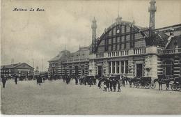 Malines.   -   La Gare   -   1908   Naar   Blauwput - Stazioni Senza Treni