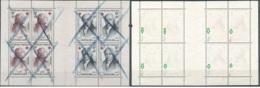 [56304]B/TB//O/Used-N° 1226/27, Le Panneau Du Carnet Croix-Rouge 1959 Avec Annulations Au Crayon Gras Bleu, Signé Calves - Used Stamps