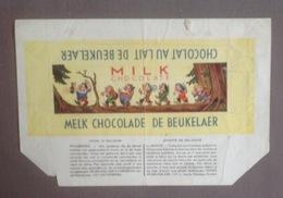 Pu. 102. Ancien Papier D'emballage D'un Chocolat Au Lait  De Beukelaer Avec Les 7 Nains - Advertising