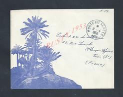 MILITARIA ALGÉRIE LETTRE ILLUSTRÉE EN FRANCHISE MILITAIRE POSTE AUX ARMÉES 1958 FM : - Marcophilie (Lettres)