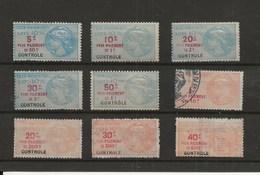FISCAUX DE FRANCE  TAXE DE LUXE  9 TIMBRES  NEUFS ET  OBLITERES - Revenue Stamps