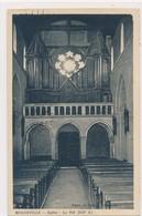 CPA Mogneville Eglise La Nef XIIè S. Circulée 1935 Timbre Tampon Les Orgues - Altri Comuni