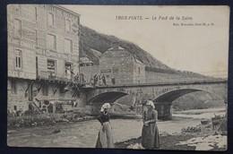 Trois-Ponts - Le Pont De La Salne - Animée - Commerce - NELS - Série 20 N° 35 - Circulé - 2 Scans - Trois-Ponts