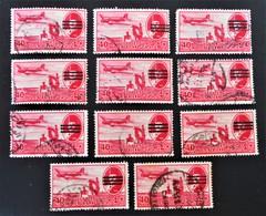 ROI FAROUK - SURCHARGE 3 BARRES 1953 - VARIETES DE SURCHARGES ET D'OBLITERATIONS - YT PA 65A - MI 455 - Poste Aérienne