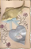 Fantaisie - 1er Avril- Carte Ancienne Luxe - 1er Avril - Poisson D'avril