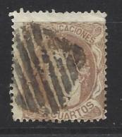 Spagna - 1870 - Usato/used - Ordinari - Mi N. 107 - Used Stamps