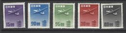 Giappone - 1951 - Nuovo/new MNH - Posta Aerea - Mi N. 550/54 - Ongebruikt