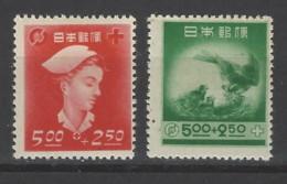 Giappone - 1948 - Nuovo/new MNH - Red Cross - Mi N. 409/10 - Nuovi