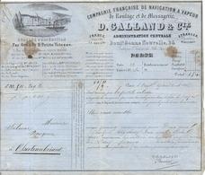 COMPAGNIE FRANCAISE DE NAVIGATION A VAPEUR . ROULAGE . PARIS 1851 . - Historical Documents