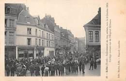 59 .n° 109980. Lille . Cortege Sortant Rue De L Hopital Militaire .4 Octobre 1914 . - Lille