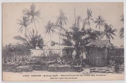 QUANG-NGAÏ (Annam Indochine Française) - Reconstruction Du Poste Des Douanes Détruit Par Les Pirates Confiserie Café Thé - Vietnam