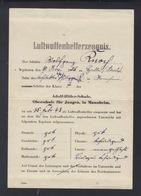 Dt. Reich Luftwaffenhelferzeugnis Mannheim 1943 - Diplome Und Schulzeugnisse