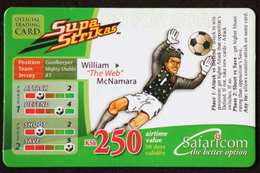 """Mobile Phonecard Kenya """"Supa Strikas"""" William Mc Namara - Kenya"""