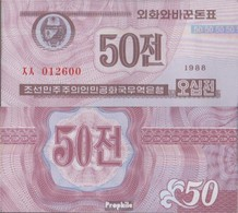 Nord-Korea Pick-Nr: 26 (braun) Bankfrisch 1988 50 Chon - Corea Del Nord