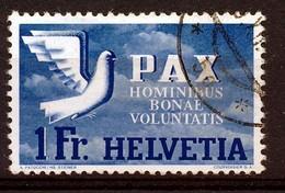 HELVETIA - Mi Nr 455 - PAX - Gest./obl. - Cote 120,00 € - Oblitérés
