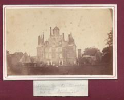 110320 - PHOTO ANCIENNE - 51 Château De MONTMORT - Marquis De Montmort - Montmort Lucy