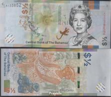 Bahamas Pick-Nr: NEW Bankfrisch 2019 1/2 Dollar - Bahamas