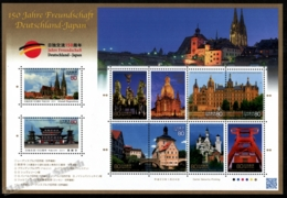 Japan - Japon 2011 Yvert 5319-28, Architecture. German Buildings & Monuments. Germany-Japan Diplomacy - Sheetlet  - MNH - 1989-... Keizer Akihito (Heisei-tijdperk)