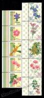 Japan - Japon 2011 Yvert 5556-65, Flora. Autumn Flowers - Vertical Strip W Tabs - MNH - 1989-... Keizer Akihito (Heisei-tijdperk)