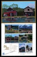 Japan - Japon 2011 Yvert 5652-61, Geography. Architecture. Japanese Landscapes & Buildings - Sheetlet - MNH - 1989-... Keizer Akihito (Heisei-tijdperk)