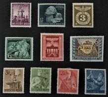 1942-1943 Heldengedenktag Mi.812*), Henlein Mi.819*), Reichsadler Mi.830*), Machtsergreifung Mi.829*), Usw - Deutschland