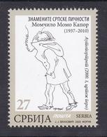 Serbia 2020 Momo Kapor Famous People Writers Novelist Painter Art Self-portrait Stamp MNH - Serbia