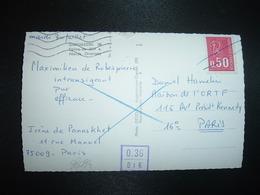 CP TP M. DE BEQUET 0,50 3BP Annulé Stylo + Cachet INSEE VIOLET 0.36 / 016 - 1971-76 Marianne (Béquet)
