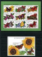 TANZANIE 1994 N° 1686/1694 Bloc 248 ** Neufs MNH Superbes C 17 € Faune Flore Papillons Limenitis Butterflies  Animaux - Tansania (1964-...)