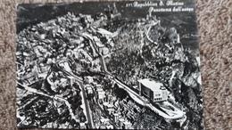 CPSM SAINT MARIN REPUBBLICA S MARINO PANORAMA DALL AEREO VIETATA ANGELI VERA   TIMBRE ENLEVE - San Marino