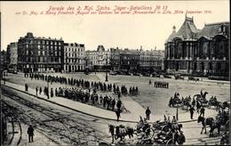 Cp Lille Nord, Kaiser Friedrich III. Von Preußen, Parade Des 2. Kgl. Sächs. Jäger Batl Nr 13 - Altri Comuni
