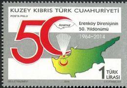 CHYPRE TURC 50ans Bataille D'Erenköy 1v 2014 Neuf ** MNH - Nuevos