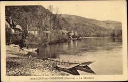 Cp Beaulieu Sur Dordogne Corrèze, Le Monturu, Barques - France