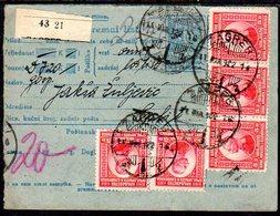YUGOSLAVIA 1922 Parcel Card With Definitive Franking2 - Briefe U. Dokumente
