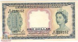 MALAYA & BRITISH BORNEO 1 DOLLAR 1953 PICK 1 UNC - Andere - Azië