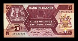 Uganda 5 Shillings 1987 Pick 27 SC UNC - Uganda