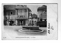Saint -Laurent-du-Pont -  La Place CAFE Bierre De CHAMBRAND - Saint-Laurent-du-Pont