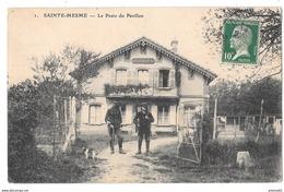 SAINTE-MESME - Le Poste Du Pavillon (vue Animée, Garde Chasse) - France
