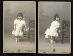 Conjunto 2 Fotografias Antigas VIDAL N.FONSECA Photografo CASA REAL Cç Combro LISBOA. Set 2 Old Photos Cabinet PORTUGAL - Ancianas (antes De 1900)