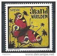 Aland 2013 N°382 Neuf  Sepac Papillon - Ålandinseln