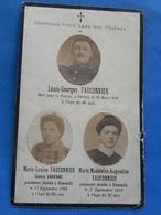 FAIRE PART DECES  SOLDAT POILU  MILITAIRE REGIMENT  WWI 98  EME RI INFANTERIE BIZENEUILLE VERDUN 10 MARS  1916 - Documents