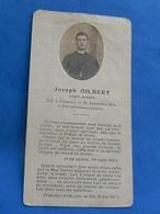 FAIRE PART DECES  SOLDAT POILU  MILITAIRE REGIMENT CLERC RELIGIEUX PORT FONTENOY AISNE NOVEMBRE 1914 - Documents