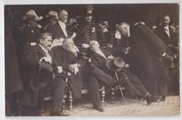 NICE - Carte-photo De L'Inauguration Du Monument Gambetta 25 Avril 1909 Prèsident Fallières Georges Clémenceau Gassin... - Plazas